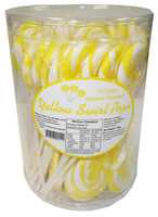 Swirl Pops - Yellow, by Brisbane Bulk Supplies,  and more Confectionery at The Professors Online Lolly Shop. (Image Number :8268)