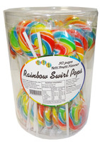 Swirl Pops - Rainbow, by Brisbane Bulk Supplies,  and more Confectionery at The Professors Online Lolly Shop. (Image Number :8266)