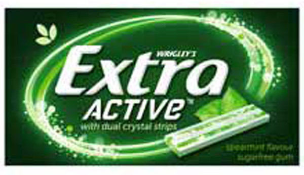 Extra Active Gum - Spearmint Flavour, by Wrigley,  and more Confectionery at The Professors Online Lolly Shop. (Image Number :8467)