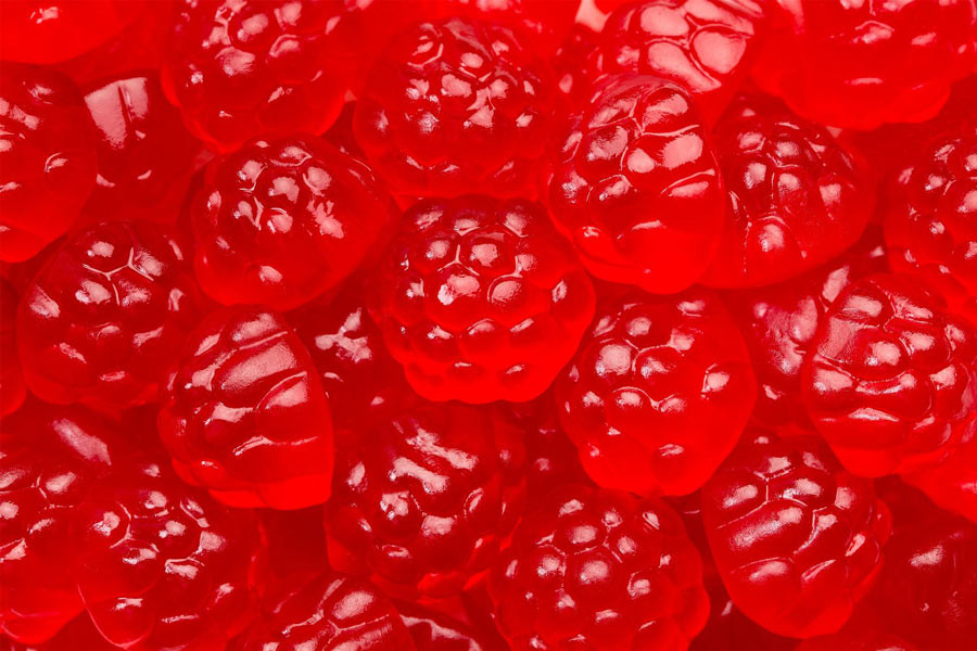 Gummi Berry - Red Raspberry, by Albanese Confectionery,  and more Confectionery at The Professors Online Lolly Shop. (Image Number :9677)