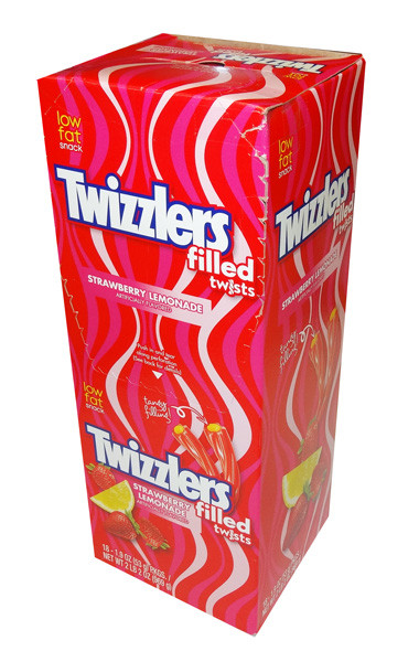 Twizzlers Filled Twists - Strawberry and Lemonade, by Hersheys,  and more Confectionery at The Professors Online Lolly Shop. (Image Number :8471)