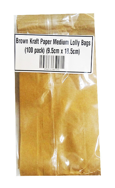 Brown Kraft Paper Medium Lolly Bags and more Partyware at The Professors Online Lolly Shop. (Image Number :10007)