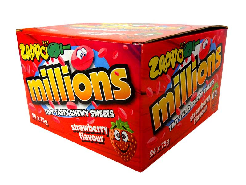 Zappo Millions, by Crown Confectionery,  and more Confectionery at The Professors Online Lolly Shop. (Image Number :10587)