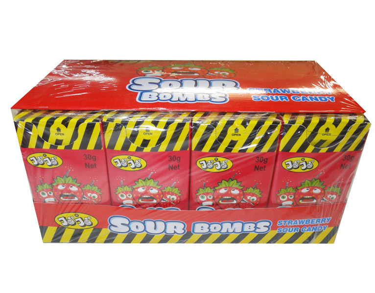 JoJo Sour Bombs - Strawberry, by JoJo,  and more Confectionery at The Professors Online Lolly Shop. (Image Number :8544)