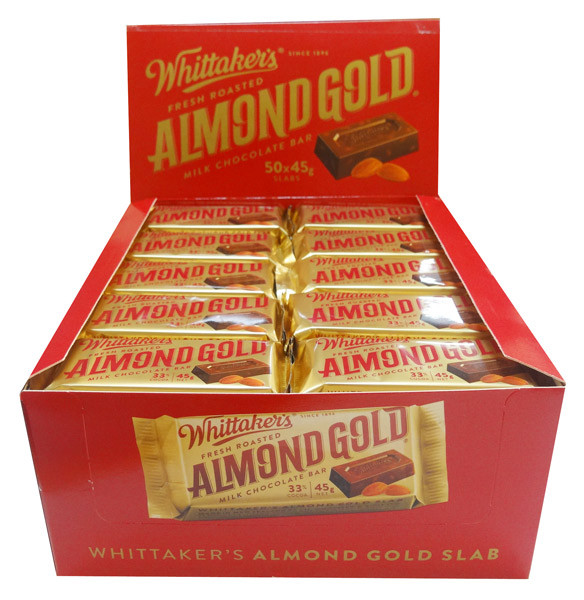 Whittakers Almond Slab, by Whittakers,  and more Confectionery at The Professors Online Lolly Shop. (Image Number :8580)