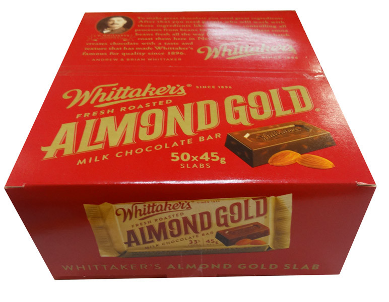 Whittakers Almond Slab, by Whittakers,  and more Confectionery at The Professors Online Lolly Shop. (Image Number :8582)