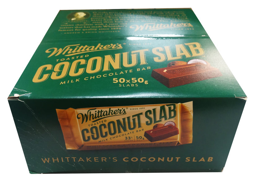 Whittakers Coconut Slab, by Whittakers,  and more Confectionery at The Professors Online Lolly Shop. (Image Number :8579)