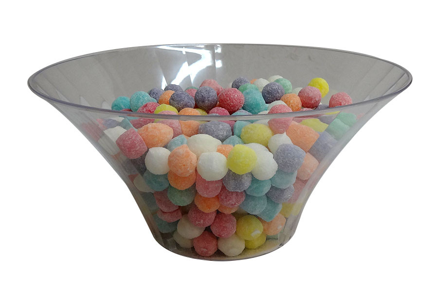 Clear Plastic Candy Buffet Flared Bowl - Large and more Partyware at The Professors Online Lolly Shop. (Image Number :10193)