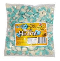 Lolliland Sour Hearts - Blue and White, by Lolliland,  and more Confectionery at The Professors Online Lolly Shop. (Image Number :8643)