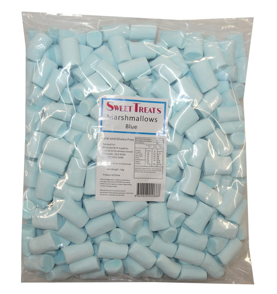Sweet Treats Marshmallow Logs - Blue, by Brisbane Bulk Supplies,  and more Confectionery at The Professors Online Lolly Shop. (Image Number :8535)