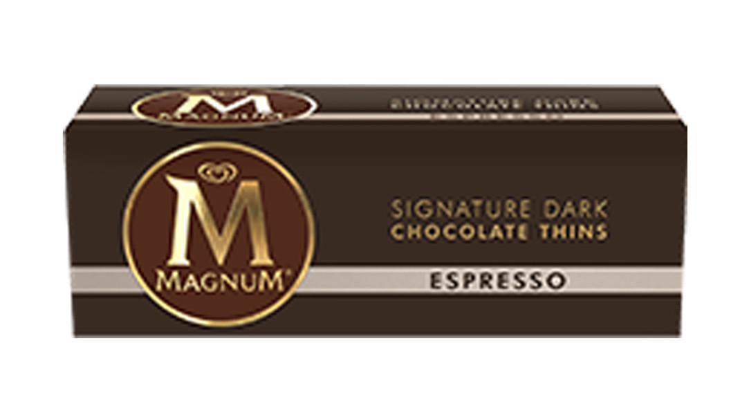 Magnum Thins - Espresso Chocolate, by Magnum,  and more Confectionery at The Professors Online Lolly Shop. (Image Number :8550)