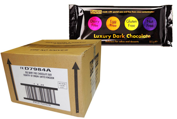 Dairy Free Luxury Chocolate Bar - Bulk - Best Before 31-03-17, by Kinnerton,  and more Confectionery at The Professors Online Lolly Shop. (Image Number :8730)