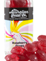 Raspberry Drops, by The Australian Sweet Company,  and more Confectionery at The Professors Online Lolly Shop. (Image Number :8763)