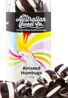 Aniseed Humbugs, by The Australian Sweet Company,  and more Confectionery at The Professors Online Lolly Shop. (Image Number :8762)