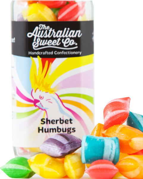 Sherbet Humbugs, by The Australian Sweet Company,  and more Confectionery at The Professors Online Lolly Shop. (Image Number :8766)