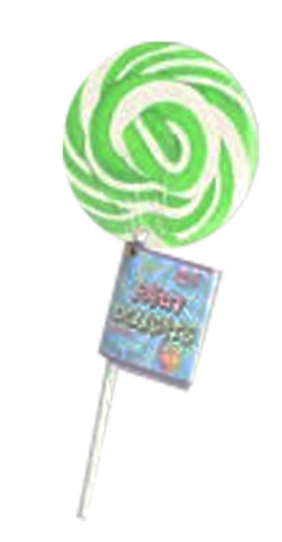 Lolly Mania Party Delights Lollipops - Green - Apple Flavour, by Lolly Mania,  and more Confectionery at The Professors Online Lolly Shop. (Image Number :8697)
