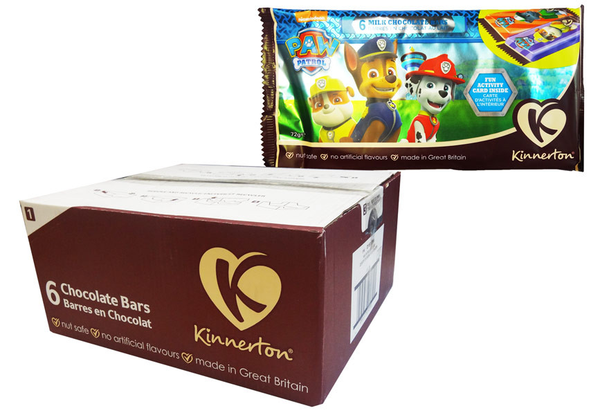 Paw Patrol Chocolate Bars, by Kinnerton,  and more Confectionery at The Professors Online Lolly Shop. (Image Number :8734)