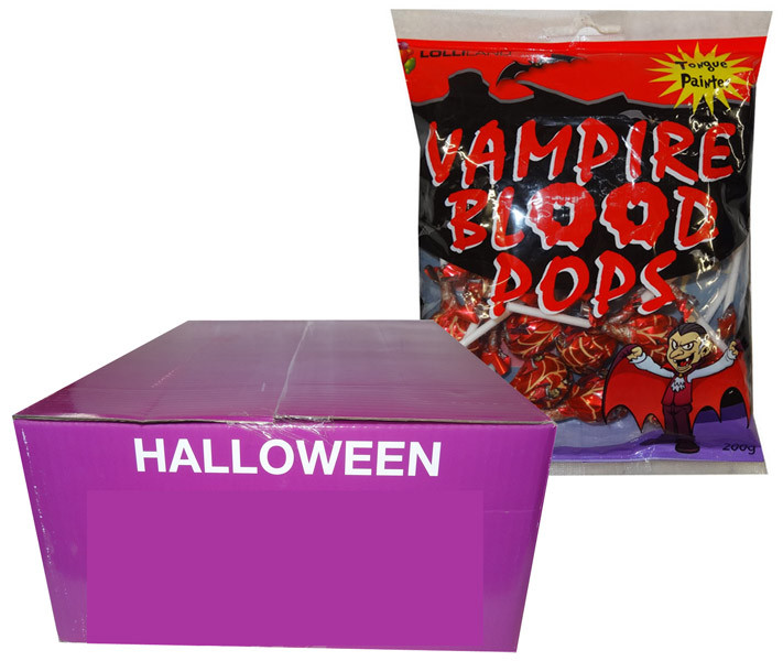 Vampire Blood Pops, by Tasty Treats,  and more Confectionery at The Professors Online Lolly Shop. (Image Number :9377)