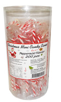 BBS - Christmas Mini Candy Cane Jar, by Brisbane Bulk Supplies,  and more Confectionery at The Professors Online Lolly Shop. (Image Number :9335)
