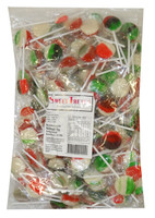 Sweet Treats - Flat Pops - Xmas Mix, by Brisbane Bulk Supplies,  and more Confectionery at The Professors Online Lolly Shop. (Image Number :9416)
