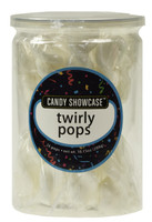 Candy Showcase Twirly Pops - White, by Lolliland,  and more Confectionery at The Professors Online Lolly Shop. (Image Number :8967)