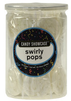 Candy Showcase Swirly Pops - White, by Lolliland,  and more Confectionery at The Professors Online Lolly Shop. (Image Number :8977)