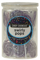 Candy Showcase Swirly Pops - Purple and White, by Lolliland,  and more Confectionery at The Professors Online Lolly Shop. (Image Number :8976)