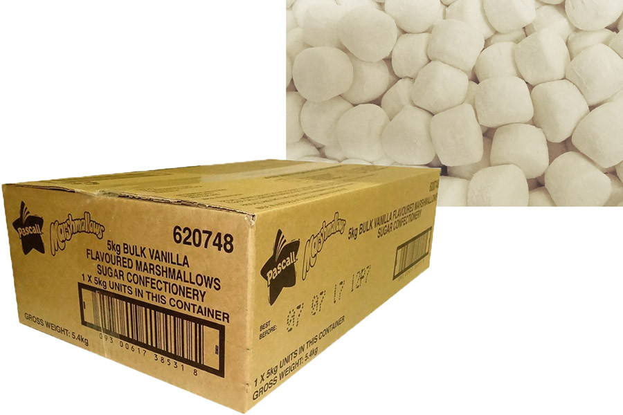 Pascall White Marshmallow Cylinders, by Pascall,  and more Confectionery at The Professors Online Lolly Shop. (Image Number :10041)