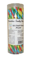 Candy Poles Jar - Rainbow, by Brisbane Bulk Supplies,  and more Confectionery at The Professors Online Lolly Shop. (Image Number :9048)