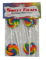 Sweet Treats Swirl Pops - Rainbow, by Brisbane Bulk Supplies,  and more Confectionery at The Professors Online Lolly Shop. (Image Number :8994)