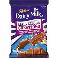 Cadbury Dairy Milk Marvellous Creations - Clinkers Raspberry Chips Marshmallows, by Cadbury,  and more Confectionery at The Professors Online Lolly Shop. (Image Number :9271)