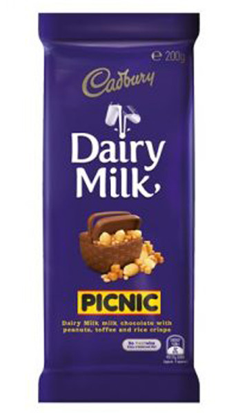 Cadbury Dairy Milk Picnic, by Cadbury,  and more Confectionery at The Professors Online Lolly Shop. (Image Number :9262)