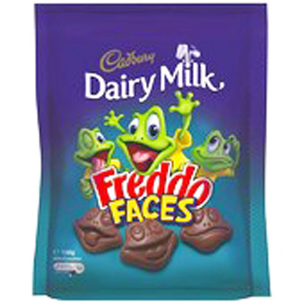 Cadbury Dairy Milk Freddo Faces, by Cadbury,  and more Confectionery at The Professors Online Lolly Shop. (Image Number :9275)