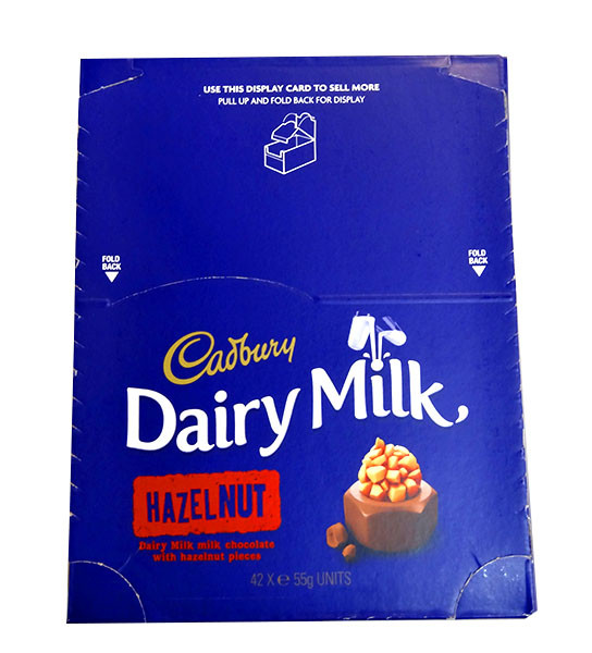 Cadbury Dairy Milk Hazel Nut, by Cadbury,  and more Confectionery at The Professors Online Lolly Shop. (Image Number :10386)