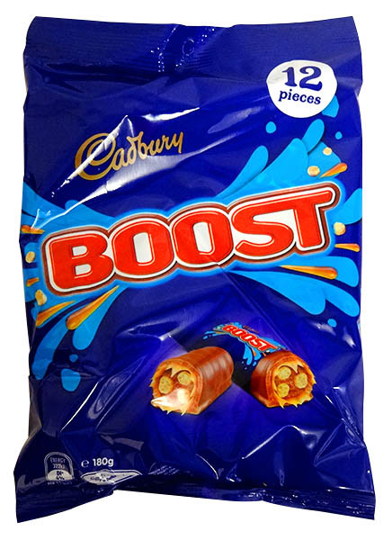 Cadbury Boost Sharepack, by Cadbury,  and more Confectionery at The Professors Online Lolly Shop. (Image Number :13681)