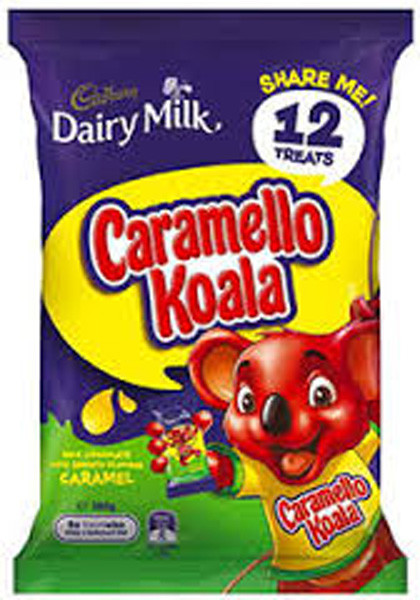 Cadbury Caramello Koala Sharepack, by Cadbury,  and more Confectionery at The Professors Online Lolly Shop. (Image Number :9211)