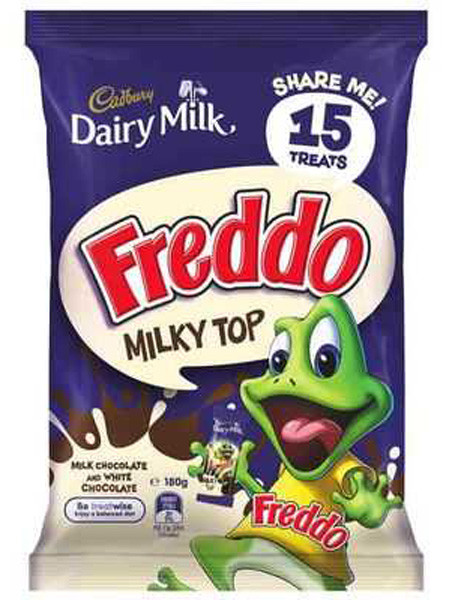 Cadbury Milky Top Freddo Frogs Sharepack, by Cadbury,  and more Confectionery at The Professors Online Lolly Shop. (Image Number :9217)