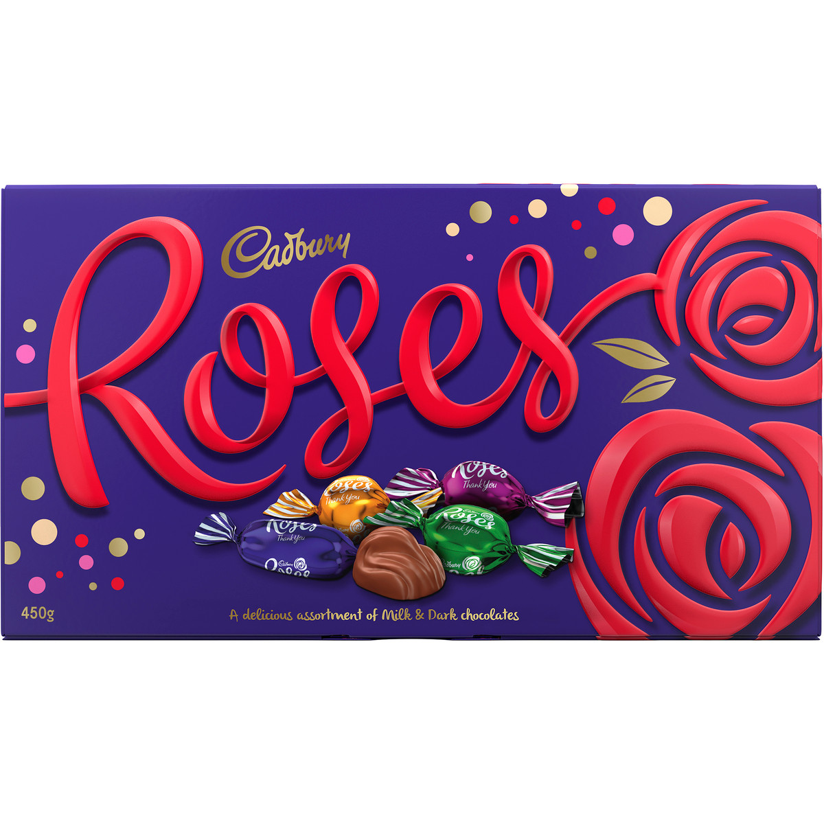 Cadbury Roses Chocolate, by Cadbury,  and more Confectionery at The Professors Online Lolly Shop. (Image Number :12061)