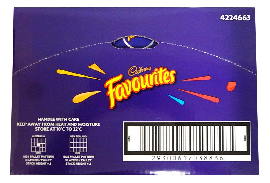 Cadbury Favourites Mini Blocks, by Cadbury,  and more Confectionery at The Professors Online Lolly Shop. (Image Number :13594)