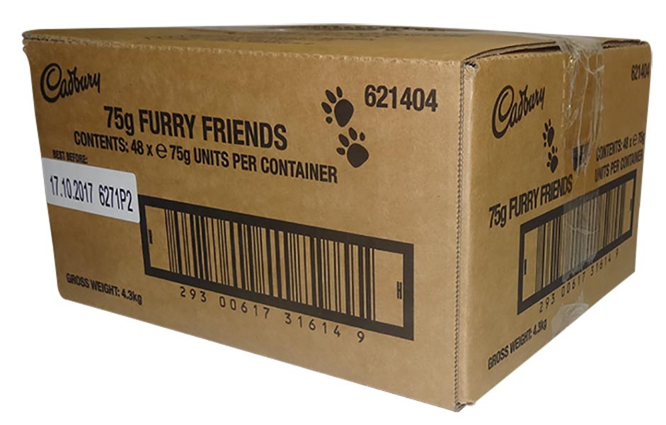 Cadbury Furry Friends - 5 pack, by Cadbury,  and more Confectionery at The Professors Online Lolly Shop. (Image Number :9828)