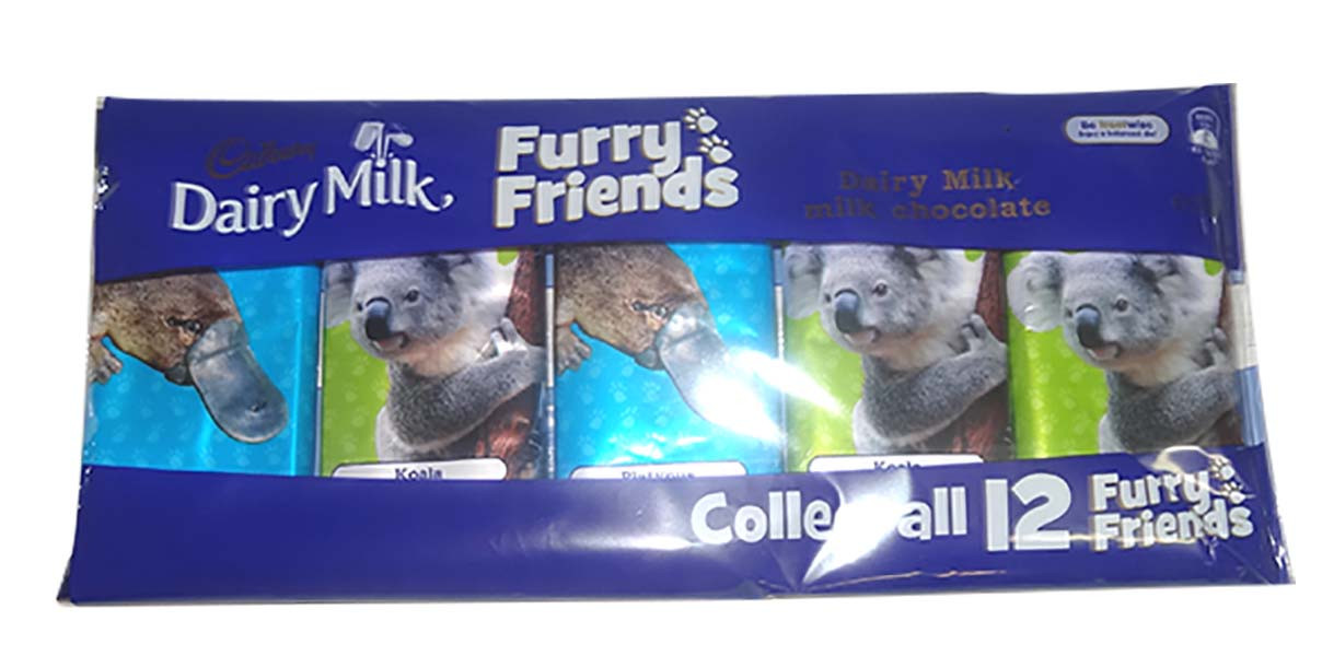 Cadbury Furry Friends - 5 pack, by Cadbury,  and more Confectionery at The Professors Online Lolly Shop. (Image Number :9829)