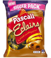 Pascall Eclairs, by Pascall,  and more Confectionery at The Professors Online Lolly Shop. (Image Number :9293)