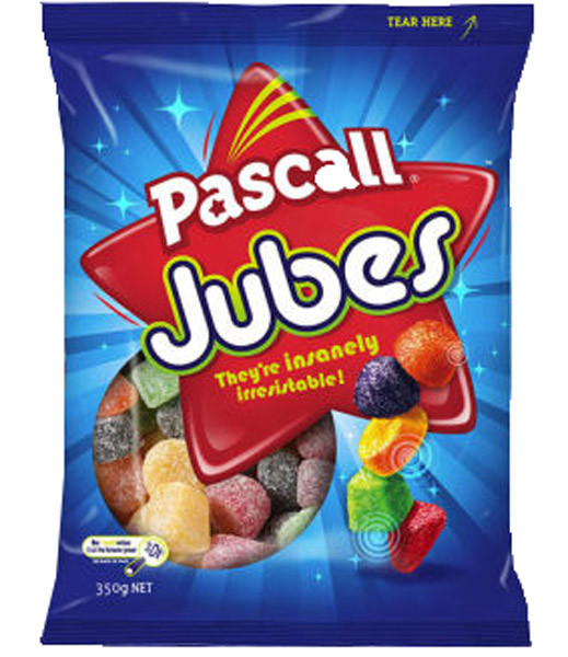 Pascall Jubes, by Pascall,  and more Confectionery at The Professors Online Lolly Shop. (Image Number :9294)