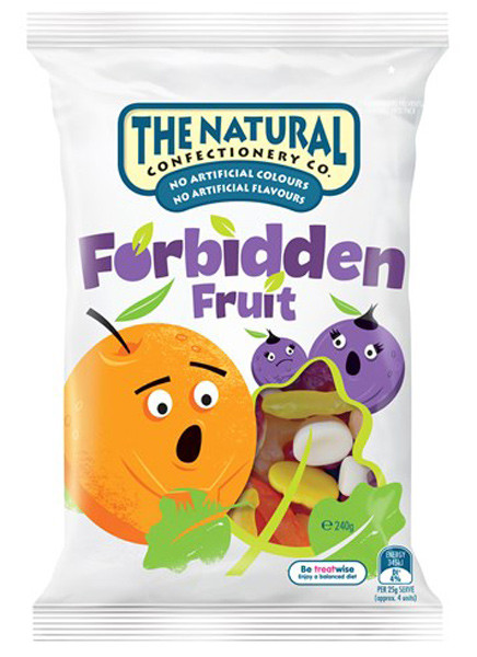 The Natural Confectionery Co. - Forbidden Fruits, by The Natural Confectionery Co.,  and more Confectionery at The Professors Online Lolly Shop. (Image Number :9302)