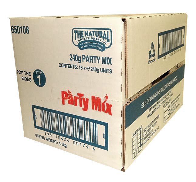 The Natural Confectionery Co. - Party Mix, by The Natural Confectionery Co.,  and more Confectionery at The Professors Online Lolly Shop. (Image Number :9976)