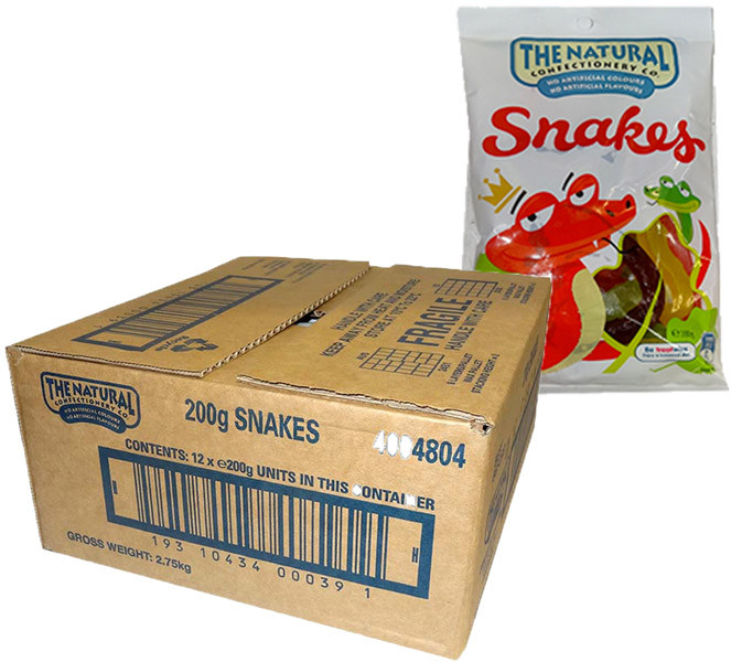 The Natural Confectionery Co. - Snakes, by The Natural Confectionery Co.,  and more Confectionery at The Professors Online Lolly Shop. (Image Number :9692)