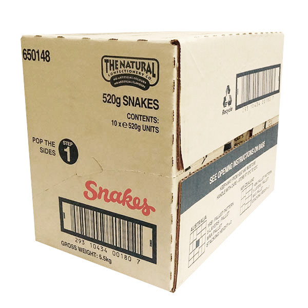 The Natural Confectionery Co. - Snakes, by The Natural Confectionery Co.,  and more Confectionery at The Professors Online Lolly Shop. (Image Number :9973)