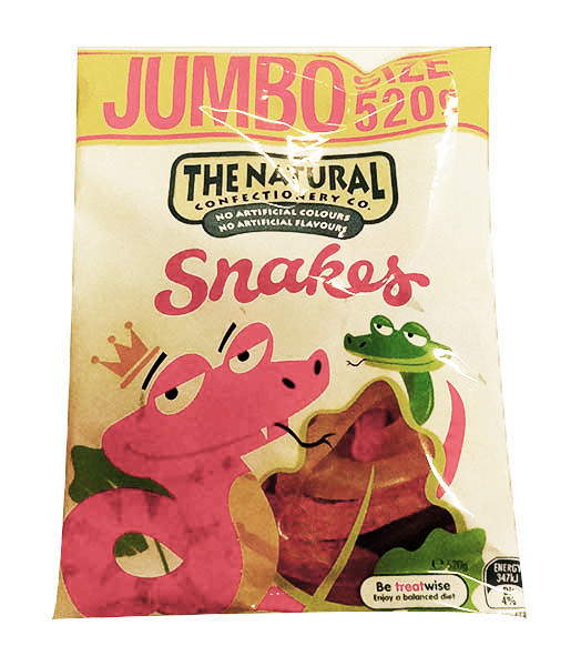 The Natural Confectionery Co. - Snakes, by The Natural Confectionery Co.,  and more Confectionery at The Professors Online Lolly Shop. (Image Number :9974)
