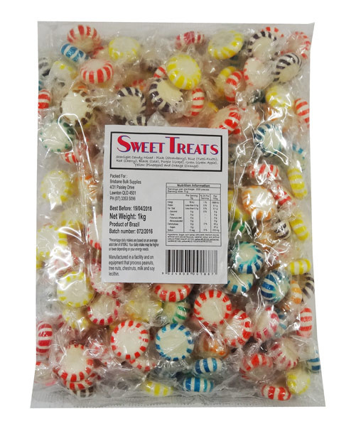 Sweet Treats Starlight Candy - Assorted Colours, by Brisbane Bulk Supplies,  and more Confectionery at The Professors Online Lolly Shop. (Image Number :9055)