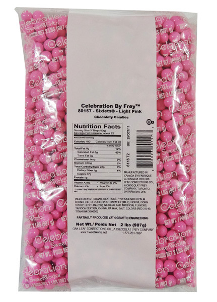 Sixlets - Light Pink, by Sixlets,  and more Confectionery at The Professors Online Lolly Shop. (Image Number :9041)